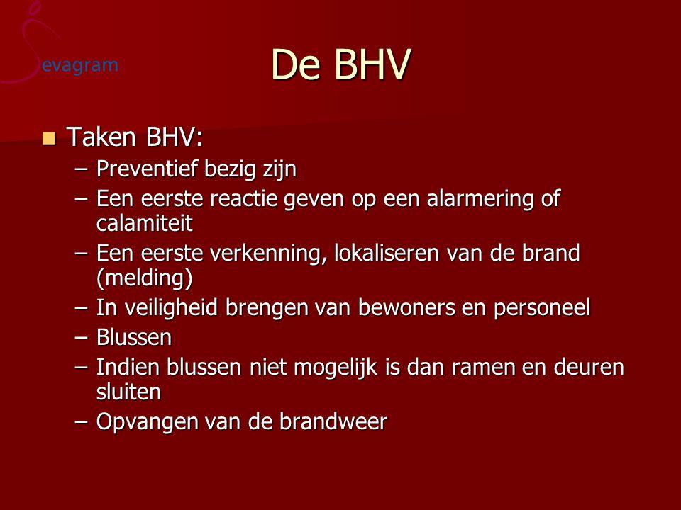 De BHV Taken BHV: Preventief bezig zijn