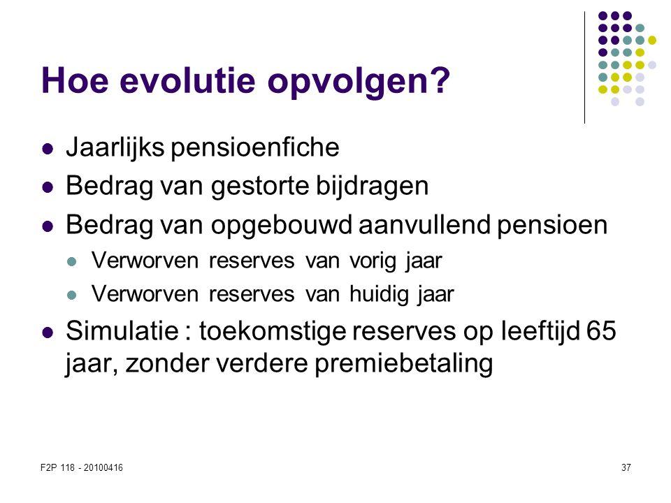 Hoe evolutie opvolgen Jaarlijks pensioenfiche