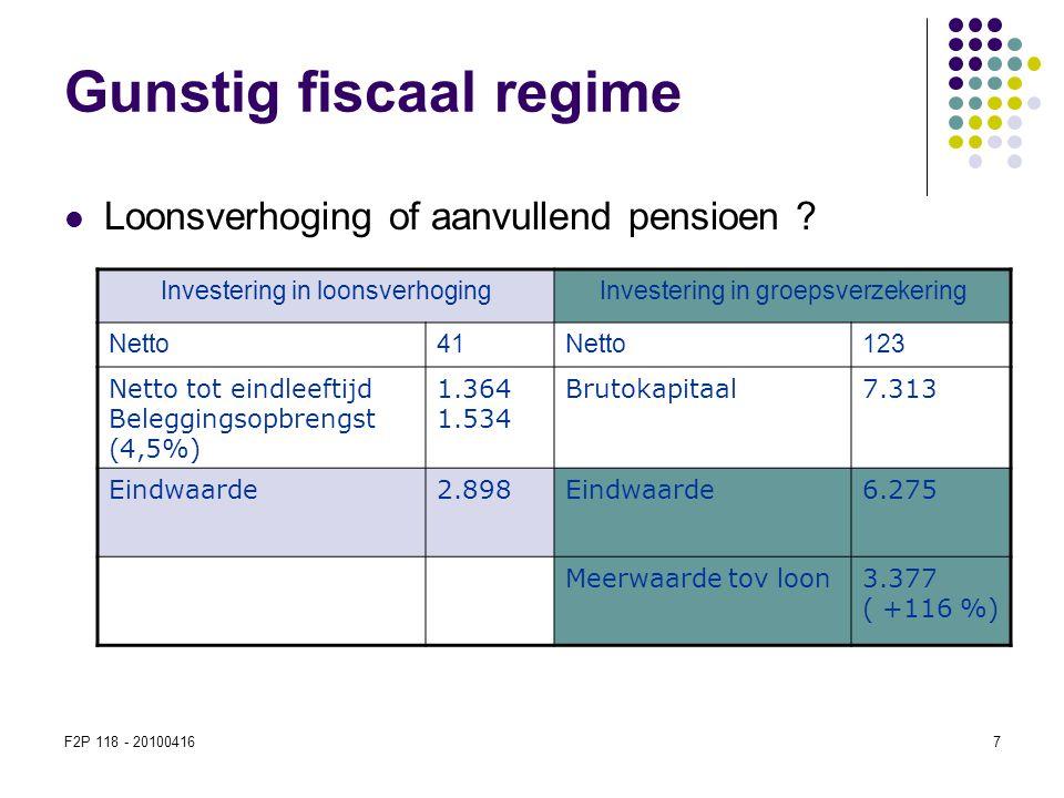 Gunstig fiscaal regime