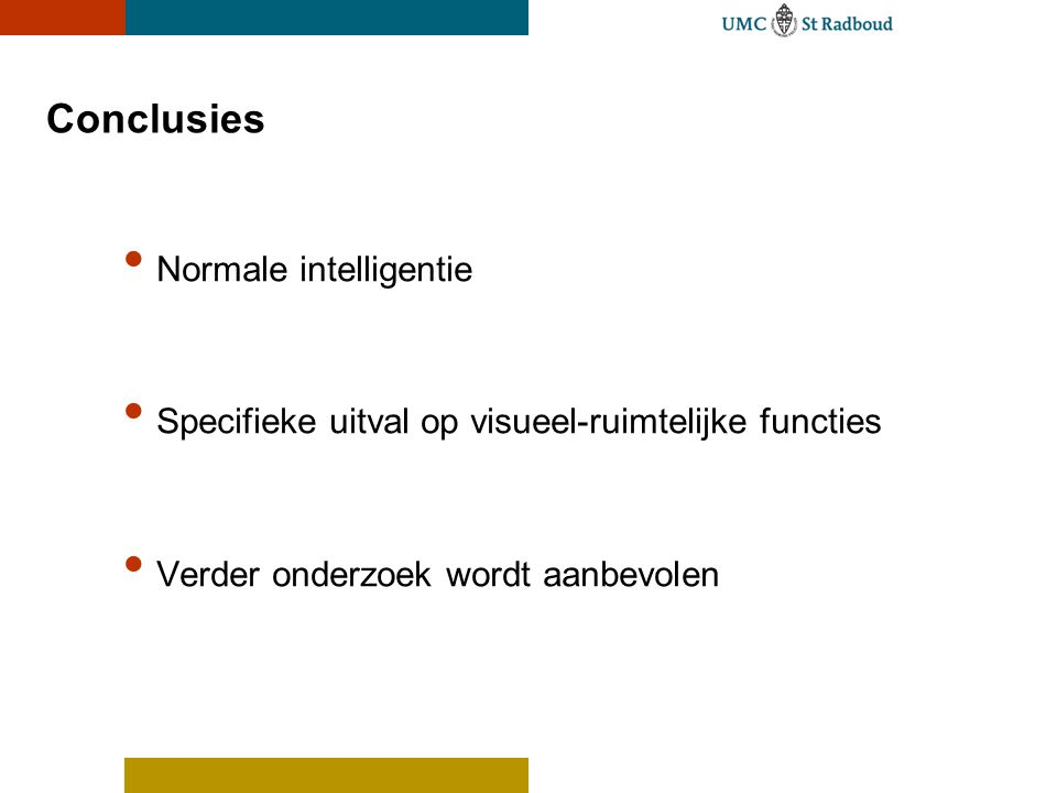 Conclusies Normale intelligentie