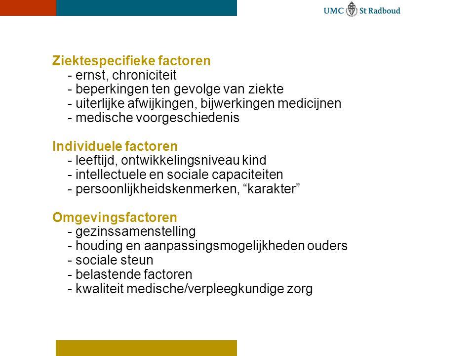 Ziektespecifieke factoren