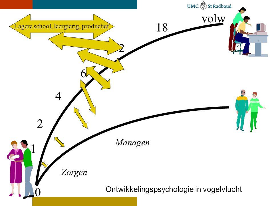 volw Lagere school, leergierig, productief. 18. 12. 6. 4. 2.