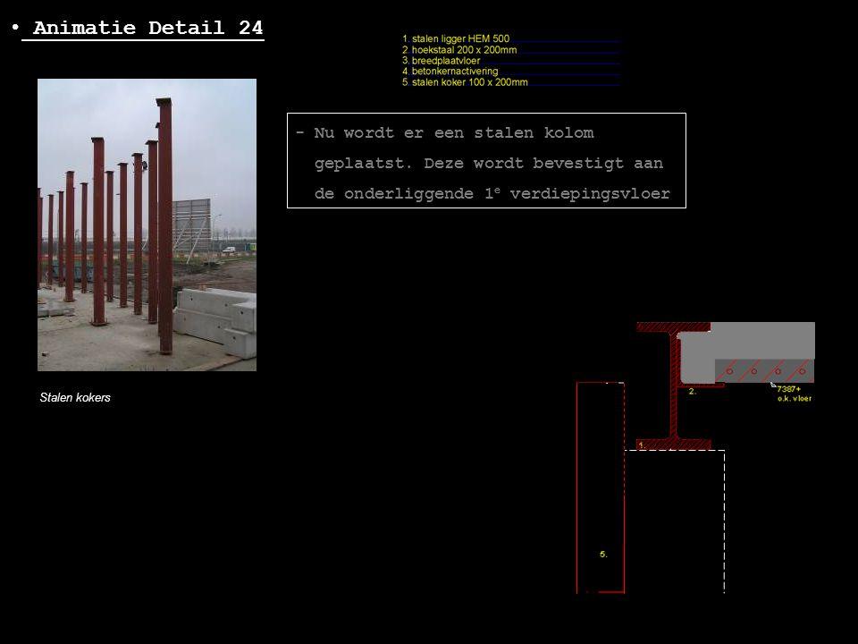 Animatie Detail 24 - Nu wordt er een stalen kolom