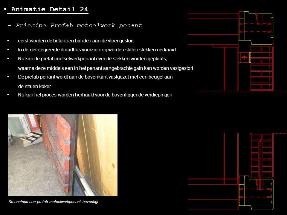 Animatie Detail 24 - Principe Prefab metselwerk penant