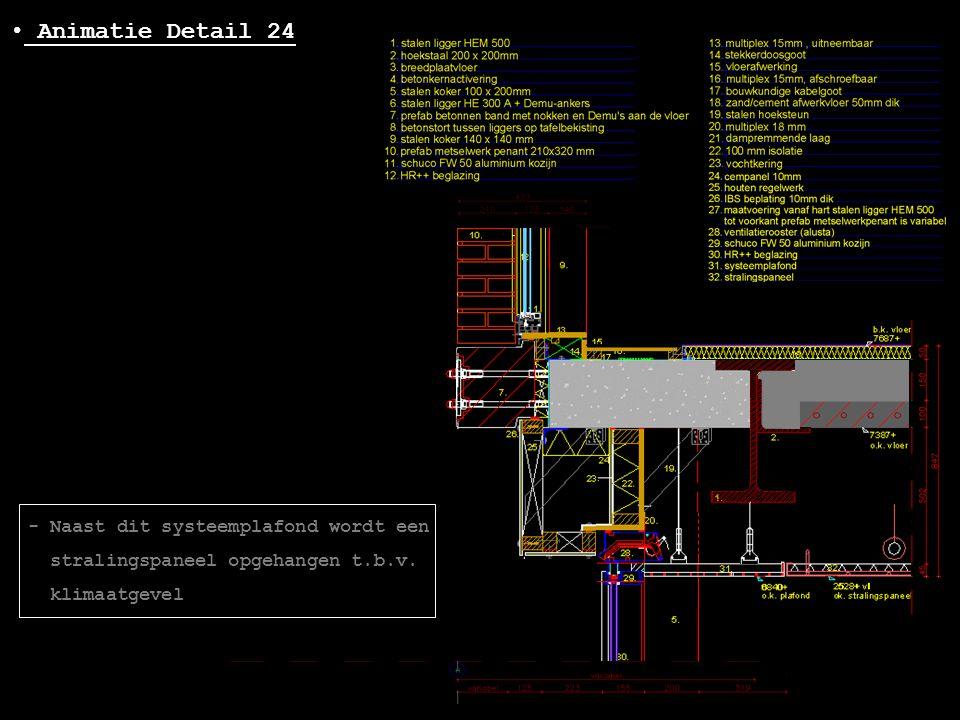 Animatie Detail 24 - Naast dit systeemplafond wordt een