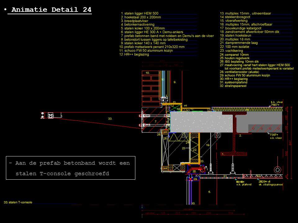 Animatie Detail 24 - Aan de prefab betonband wordt een