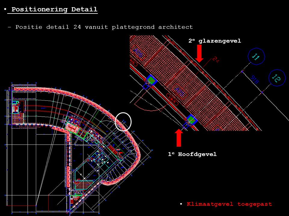 Positionering Detail - Positie detail 24 vanuit plattegrond architect