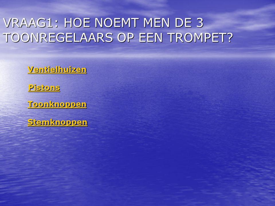 VRAAG1: HOE NOEMT MEN DE 3 TOONREGELAARS OP EEN TROMPET