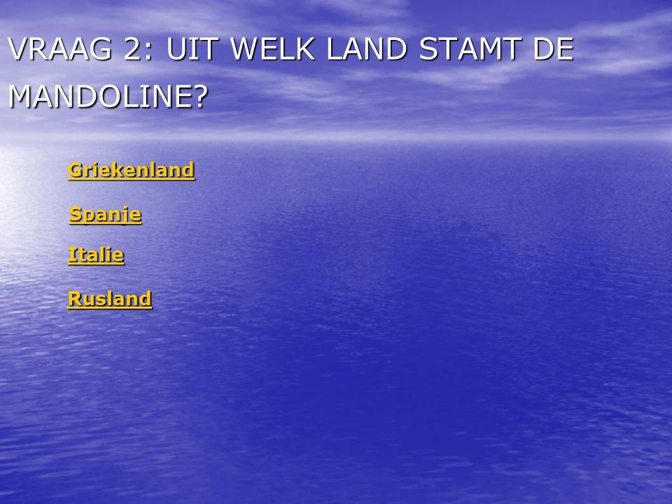 VRAAG 2: UIT WELK LAND STAMT DE MANDOLINE
