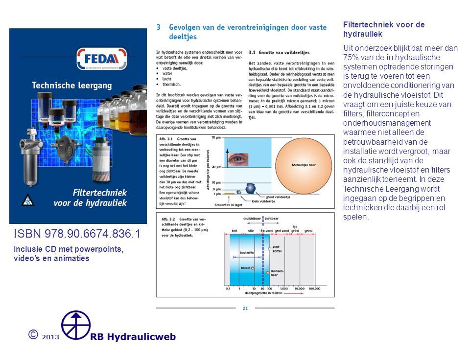 © 2013 ISBN 978.90.6674.836.1 Filtertechniek voor de hydrauliek