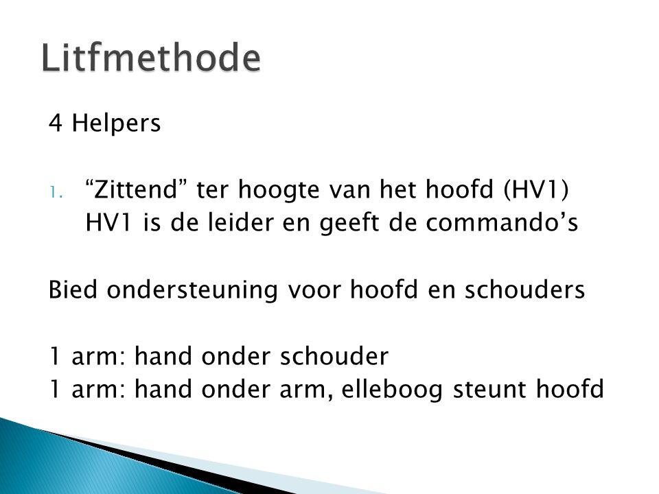 Litfmethode 4 Helpers Zittend ter hoogte van het hoofd (HV1)