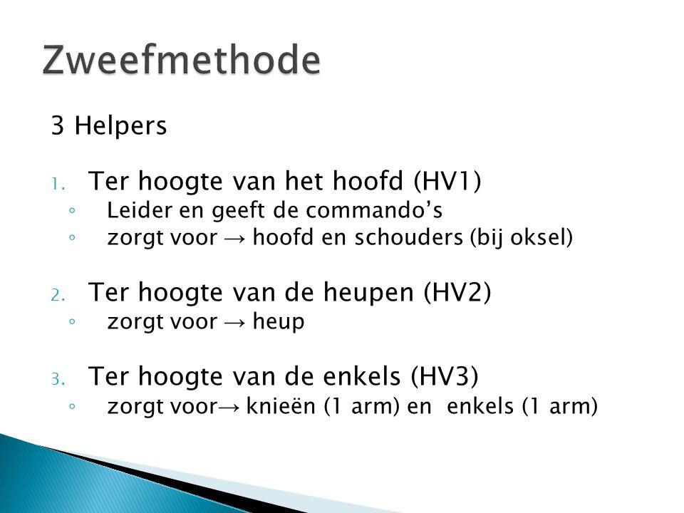 Zweefmethode 3 Helpers Ter hoogte van het hoofd (HV1)