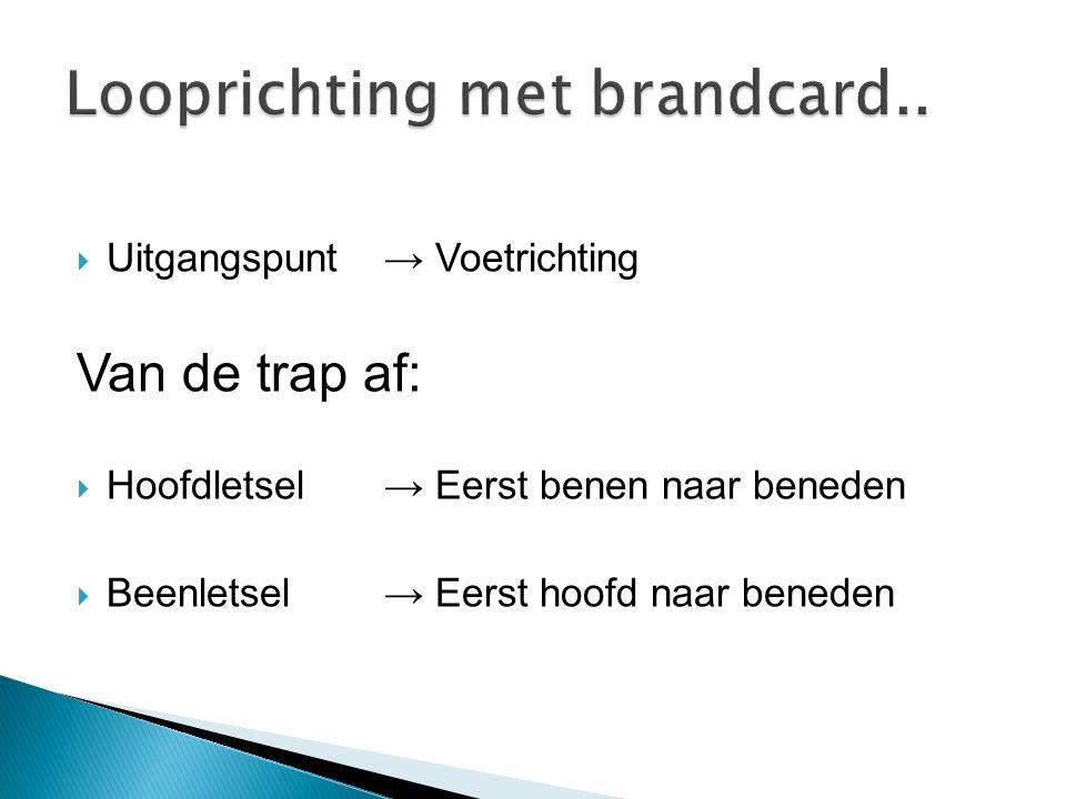 Looprichting met brandcard..