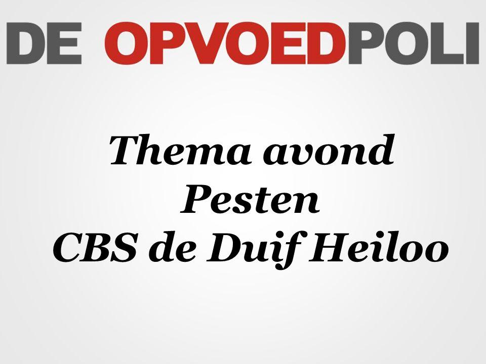 Thema avond Pesten CBS de Duif Heiloo