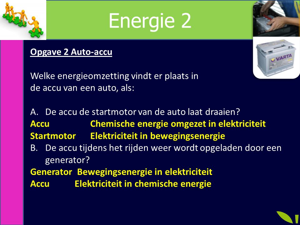 Energie 2 Opgave 2 Auto-accu