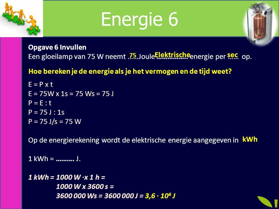 Energie 6 Opgave 6 Invullen