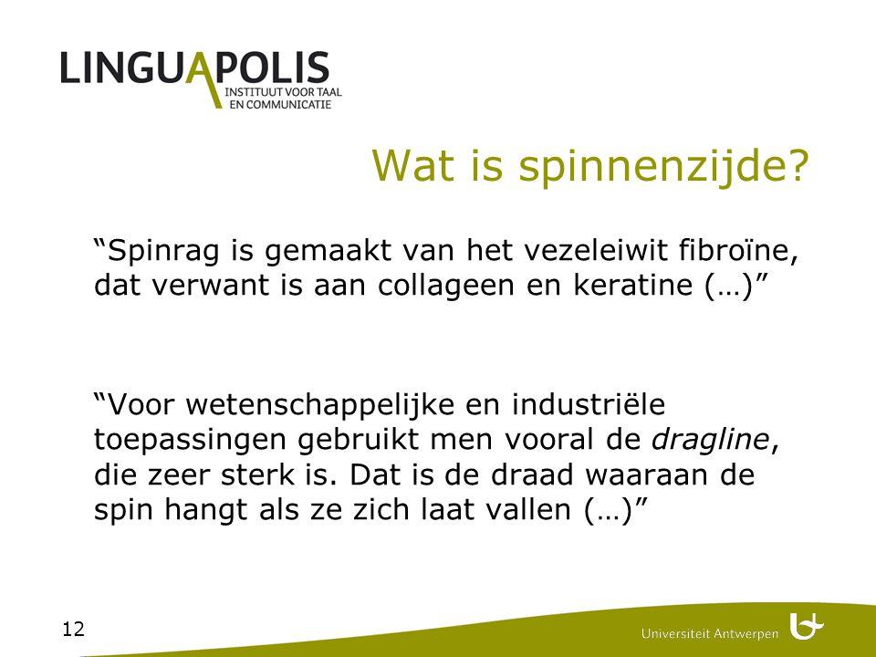 Spinrag is gemaakt van het vezeleiwit fibroïne, dat verwant is aan collageen en keratine (…)