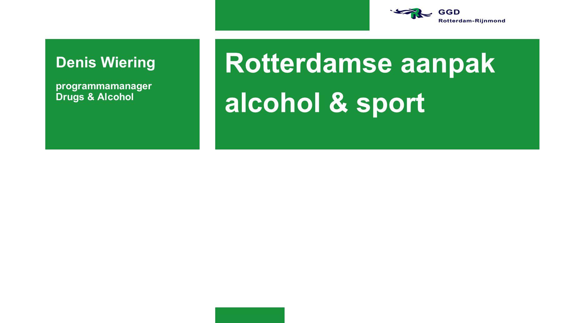 Rotterdamse aanpak alcohol & sport