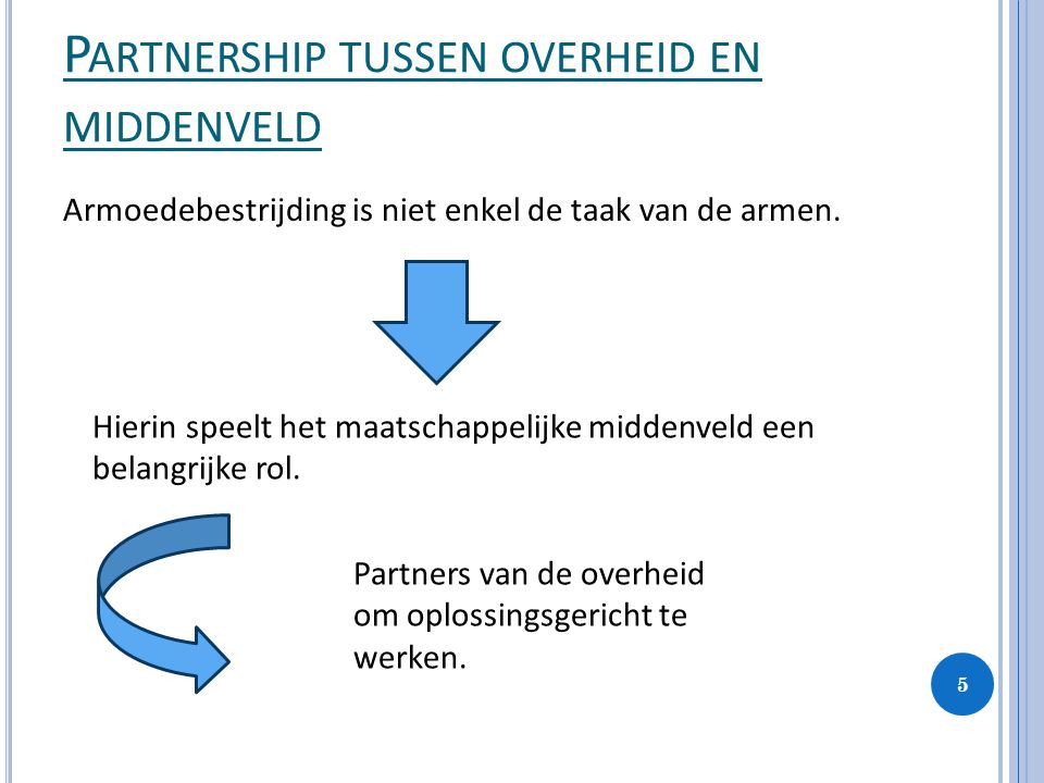 Partnership tussen overheid en middenveld