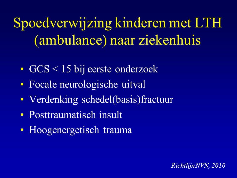 Spoedverwijzing kinderen met LTH (ambulance) naar ziekenhuis