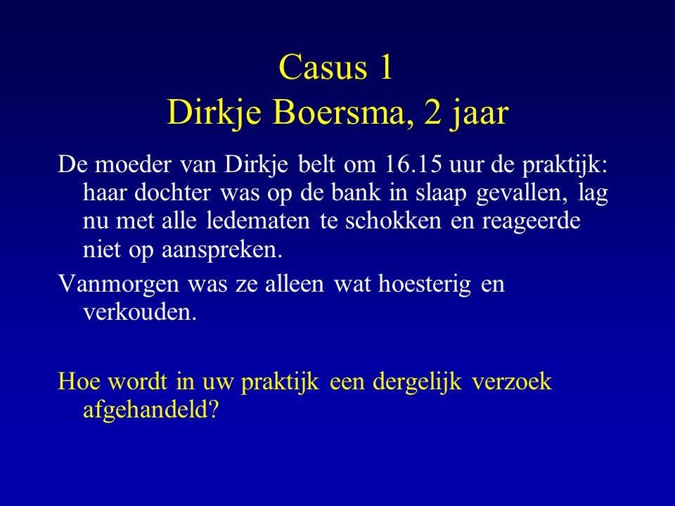 Casus 1 Dirkje Boersma, 2 jaar