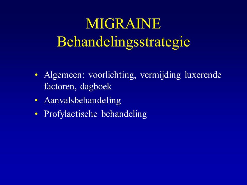 MIGRAINE Behandelingsstrategie