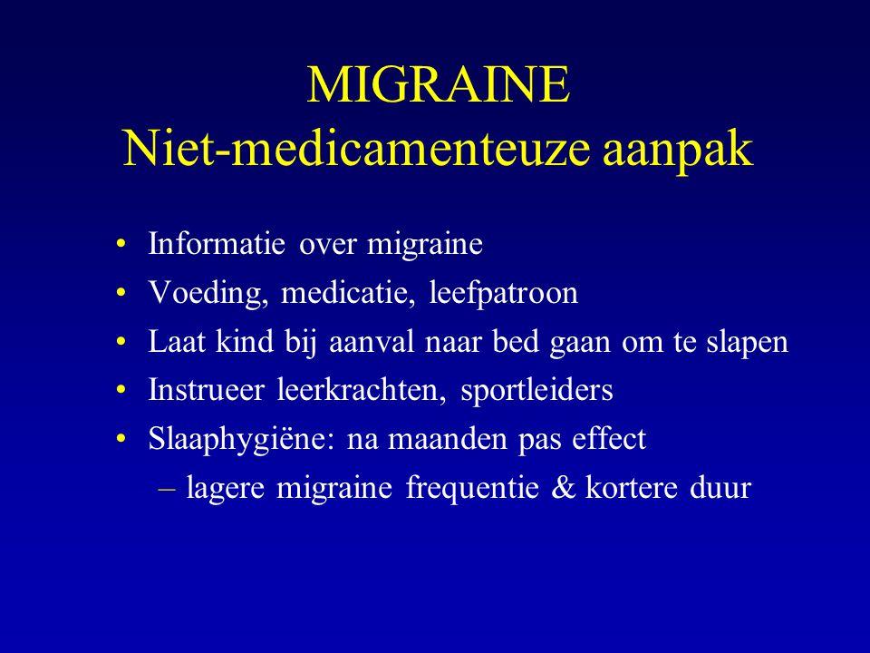 MIGRAINE Niet-medicamenteuze aanpak