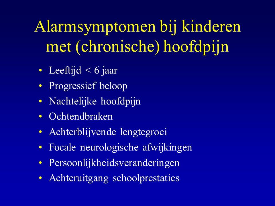 Alarmsymptomen bij kinderen met (chronische) hoofdpijn