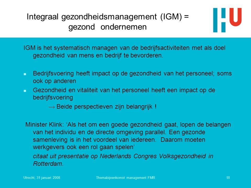 Integraal gezondheidsmanagement (IGM) = gezond ondernemen