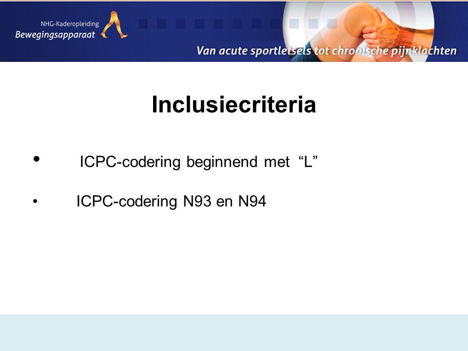 ICPC-codering beginnend met L
