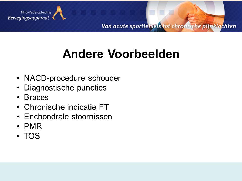 Andere Voorbeelden NACD-procedure schouder Diagnostische puncties
