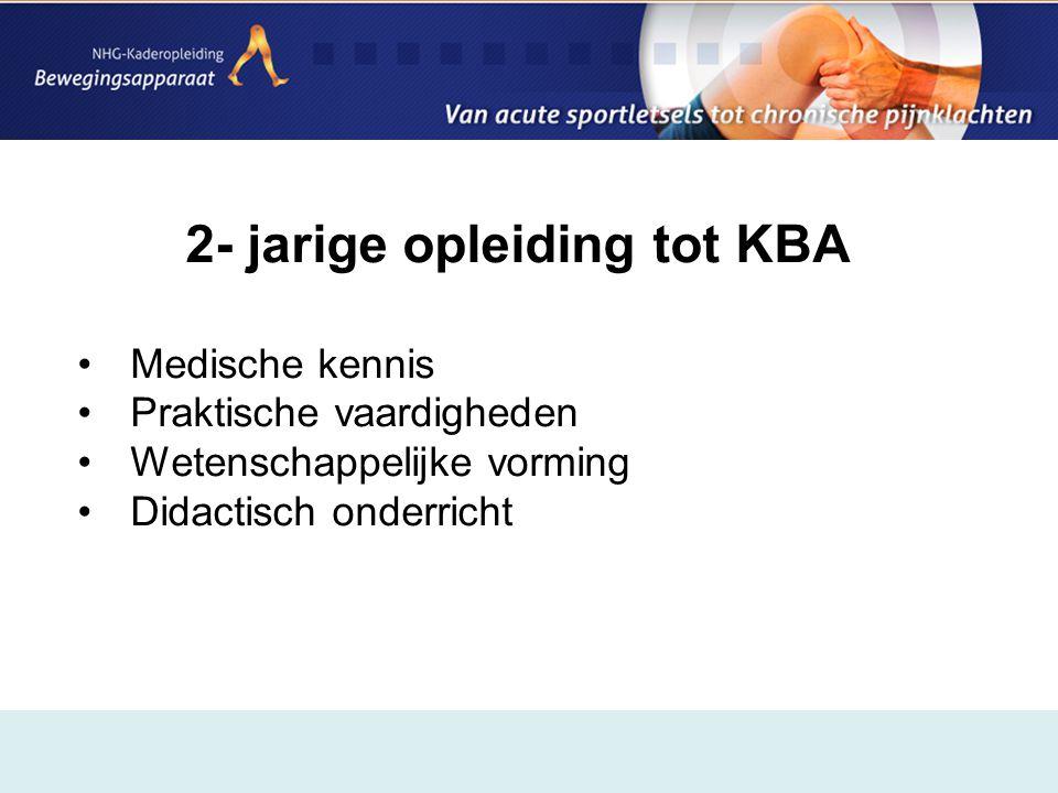 2- jarige opleiding tot KBA
