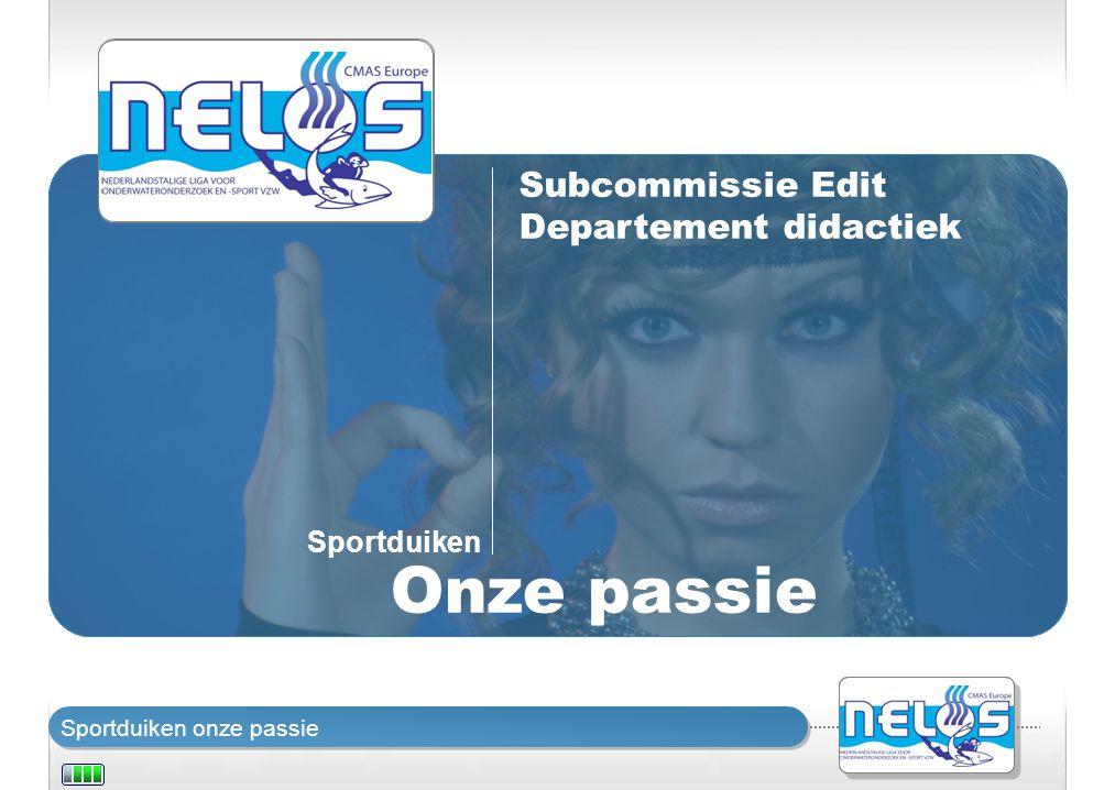 Subcommissie Edit Departement didactiek Sportduiken Onze passie