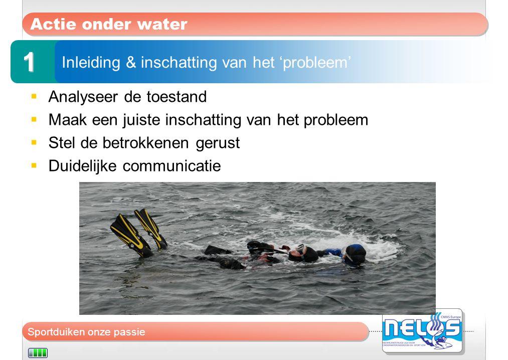 1 Actie onder water Inleiding & inschatting van het 'probleem'
