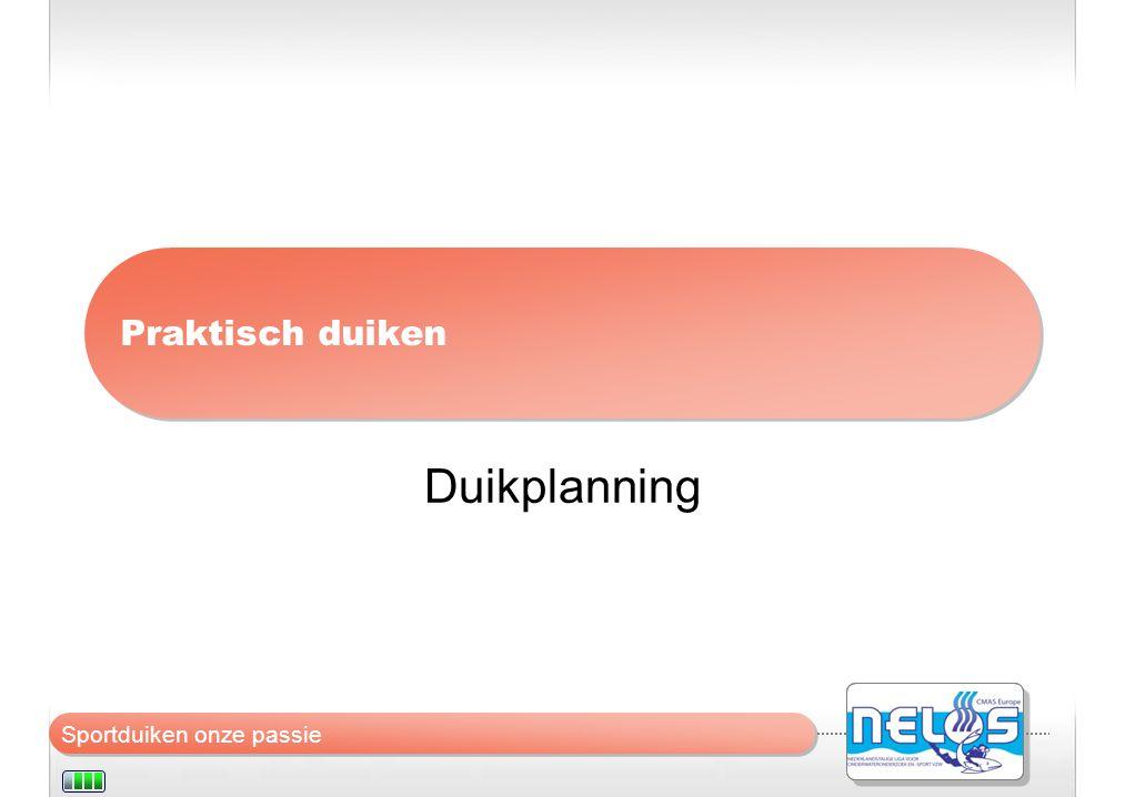 Praktisch duiken Duikplanning
