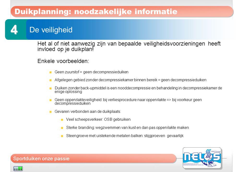 Duikplanning: noodzakelijke informatie