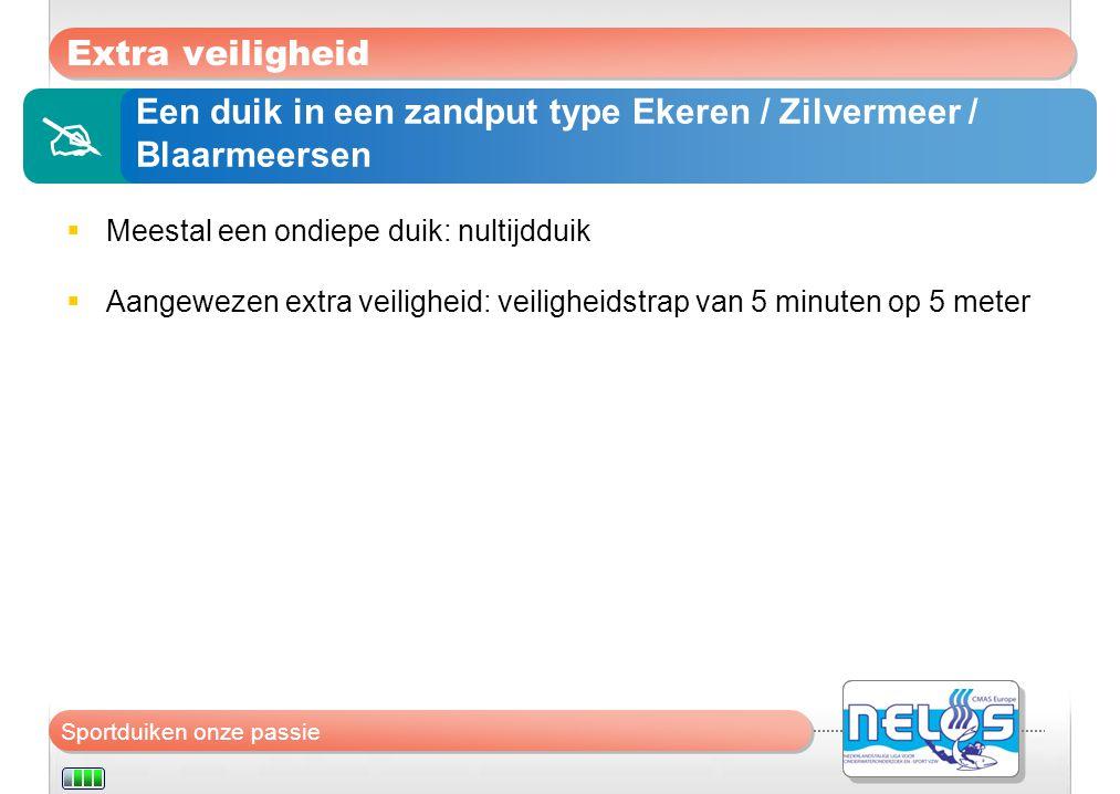  Extra veiligheid Een duik in een zandput type Ekeren / Zilvermeer /