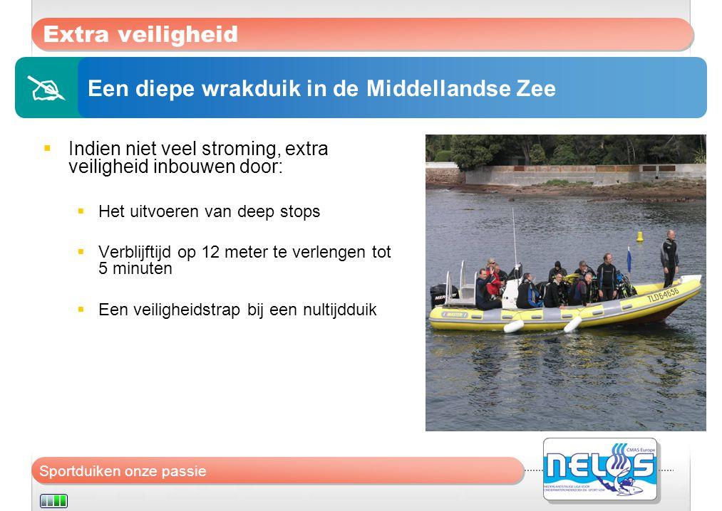  Extra veiligheid Een diepe wrakduik in de Middellandse Zee