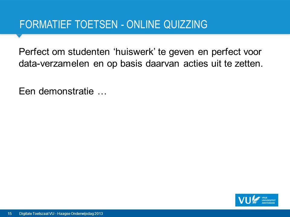 Formatief Toetsen - Online Quizzing