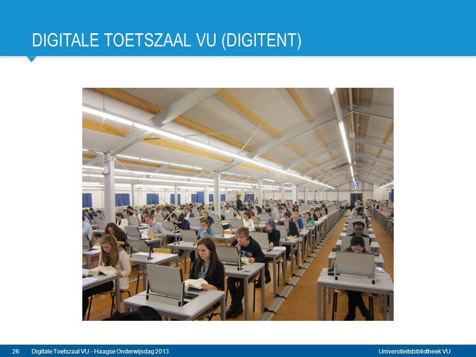 Digitale Toetszaal VU (DigiTenT)