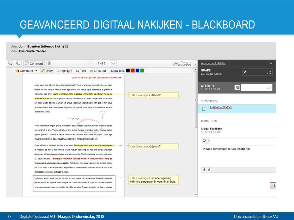 Geavanceerd digitaal nakijken - Blackboard