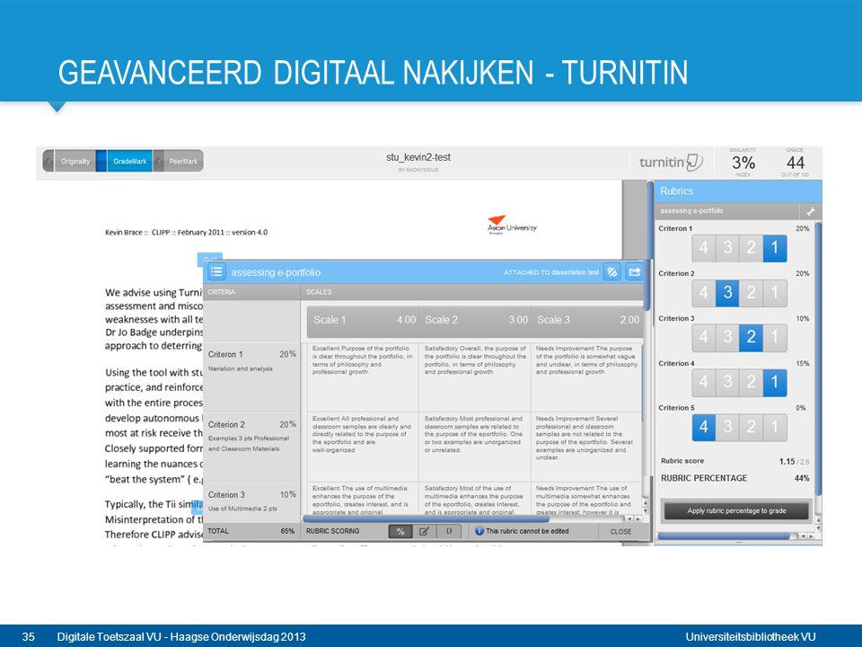 Geavanceerd digitaal nakijken - Turnitin