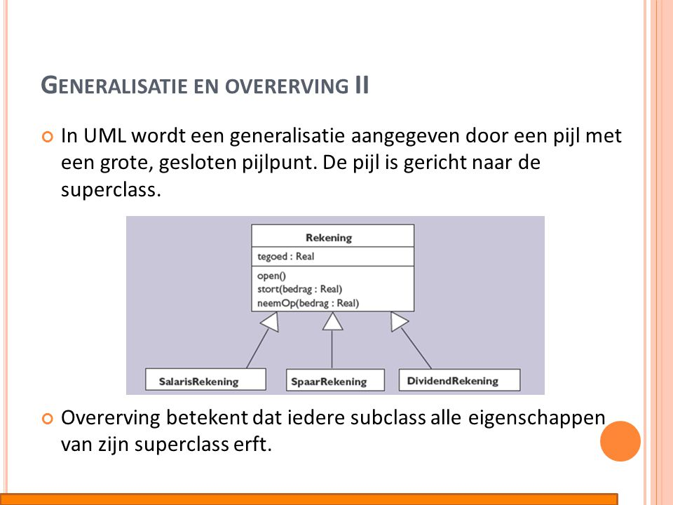Generalisatie en overerving II