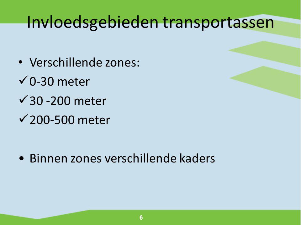 Invloedsgebieden transportassen