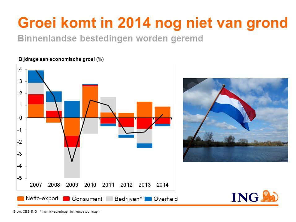 Groei komt in 2014 nog niet van grond
