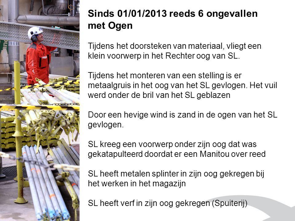 Sinds 01/01/2013 reeds 6 ongevallen met Ogen