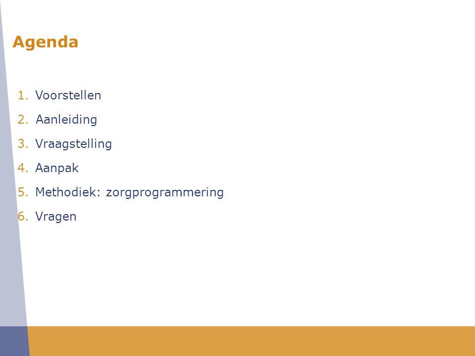Agenda Voorstellen Aanleiding Vraagstelling Aanpak