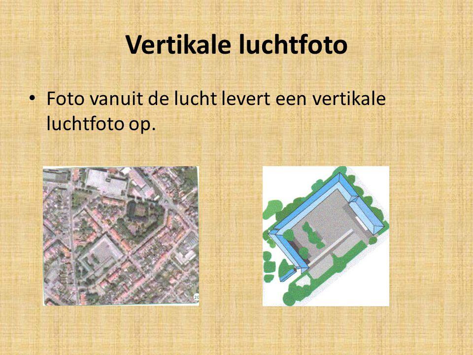 Vertikale luchtfoto Foto vanuit de lucht levert een vertikale luchtfoto op.