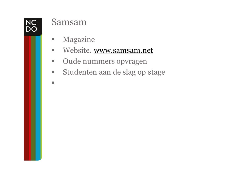 Samsam Magazine Website. www.samsam.net Oude nummers opvragen