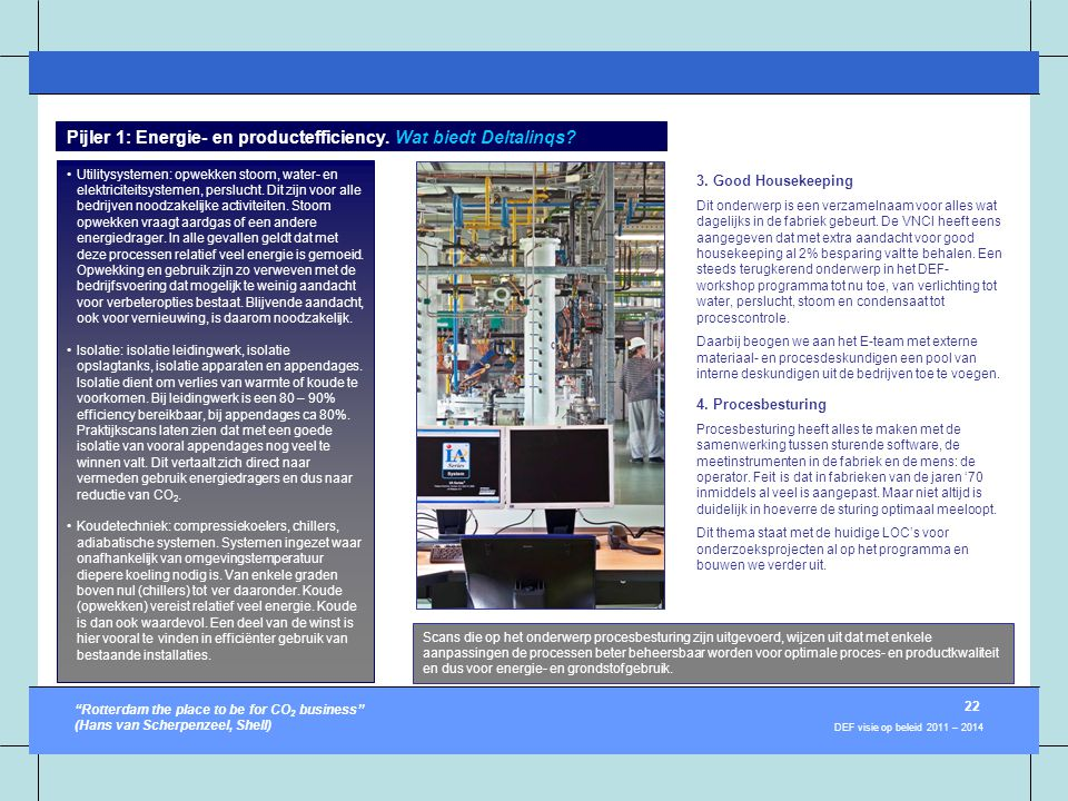 Pijler 1: Energie- en productefficiency. Wat biedt Deltalinqs